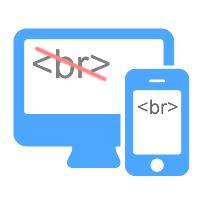 CSSのみでレスポンシブデザインのスマホ表示時に思ったところに改行を入れる方法