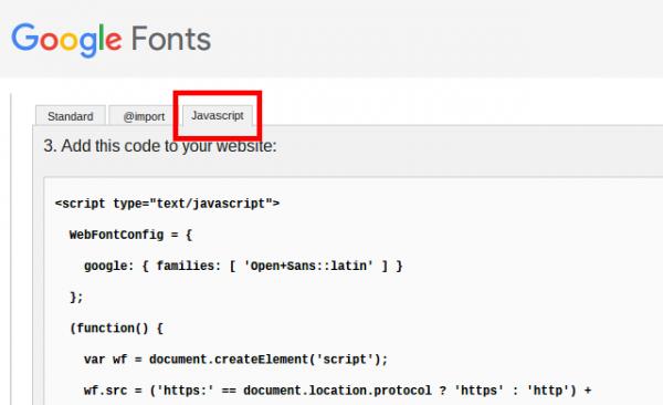 Google Fontsのコード